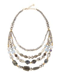 Nakamol | Metallic Multi-strand Beaded Collar Necklace | Lyst