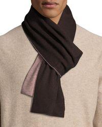 Portolano | Blue Two-tone Knit Scarf for Men | Lyst