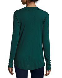 Three Dots - Blue Alyssa Drape-neck Top - Lyst