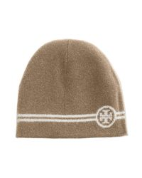 Tory Burch | Blue Reversible Wool Beanie Hat | Lyst