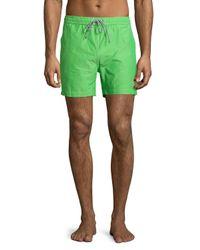 Psycho Bunny | Green Bunny Drawstring Swim Trunks for Men | Lyst