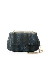 Neiman Marcus | Multicolor Snake-embossed Faux-leather Crossbody Bag | Lyst