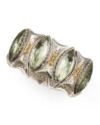 Konstantino - Metallic Astritis Faceted Green Amethyst Cuff Bracelet - Lyst