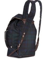 Fred Perry - Blue Plaid Canvas Rucksak Backpack - Lyst