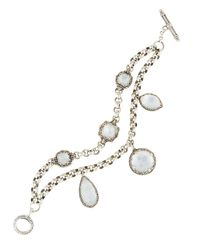 Konstantino | White Aura Crystal & Mother-of-pearl Double-strand Bracelet | Lyst