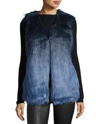 Romeo and Juliet Couture | Blue Faux-fur Ombre Vest | Lyst