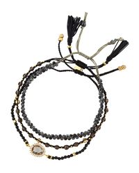 Tai | Black Mixed Smoky Quartz Beaded Bracelets | Lyst