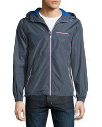 Original Penguin - Gray Melange Wind-resistant Jacket for Men - Lyst