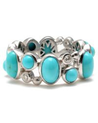 Elizabeth Showers | Metallic Madelee Turquoise Cabochon Ring | Lyst