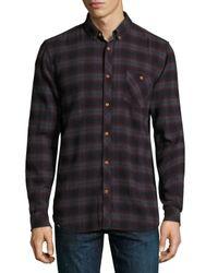 Wesc | Black Olive Plaid Slim-fit Shirt for Men | Lyst