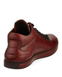 Kenneth Cole - Brown Best Brand Leather Sneaker Boot With Silver Technology for Men - Lyst