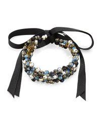 Nakamol | Blue Beaded Ribbon Choker Necklace | Lyst
