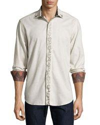 Robert Graham | Natural Carnevale Long-sleeve Embroidered Sport Shirt for Men | Lyst
