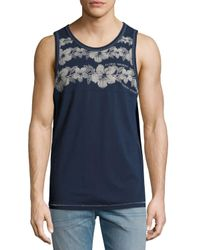 Tommy Bahama | Blue Waikiki Hibiscus Tank Top for Men | Lyst