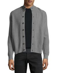 Luciano Barbera | Green Button-front Cashmere Sweater Cardigan for Men | Lyst