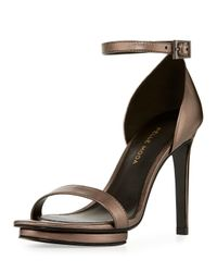 Pelle Moda - Natural Taft Leather Platform Sandal - Lyst