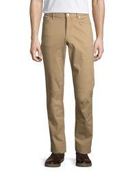 Michael Kors | Blue Straight-leg Twill Pants for Men | Lyst
