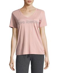 Peace Love World | Pink James Love V-neck Tee | Lyst