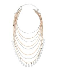 Lydell NYC | Multicolor Layered Multi-strand Beaded Choker Necklace | Lyst