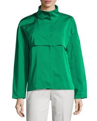 Lafayette 148 New York | Green Tiegs Snap-front Topper Jacket | Lyst