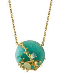 Indulgems | Blue Round Amazonite & Mixed-gem Pendant Necklace | Lyst