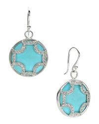 Elizabeth Showers | Blue Turquoise Maltese Hoop Earrings | Lyst