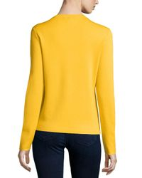 Michael Kors | Yellow Button-front Cashmere Cardigan | Lyst