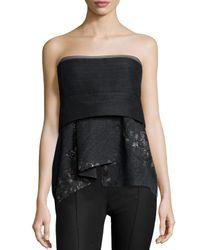 Donna Karan - Black Short Bustier Top - Lyst