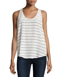 Joie | Multicolor Sleeveless Striped Crepe Blouse | Lyst
