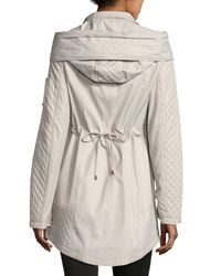 Laundry by Shelli Segal - White Cloud Quilted Anorak Jacket - Lyst