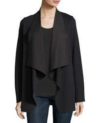 Neiman Marcus - Multicolor Merino Wool/cotton Draped Cardigan - Lyst