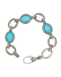 Lagos | Blue Turquoise & Crystal Doublet Link Bracelet | Lyst