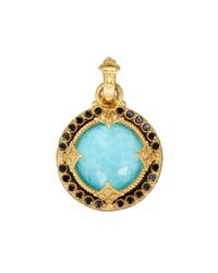 Armenta | Green Old World Heraldry Turquoise Doublet Pendant Enhancer W/ Mixed Diamonds | Lyst