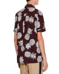 Valentino - Multicolor Pineapple-print Short-sleeve Popover Shirt for Men - Lyst