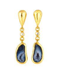 Gurhan - Multicolor Pandora's Box 24k One-of-a-kind Geode Drop Earrings - Lyst