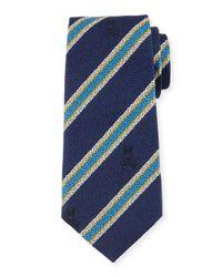 Psycho Bunny | Blue Diagonal-stripe Woven Tie for Men | Lyst