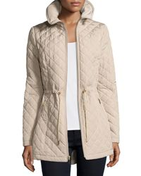 Laundry by Shelli Segal | Natural Mini-quilted Wind-resistant Jacket | Lyst