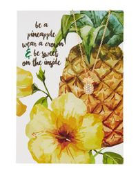 Lydell NYC - Multicolor Pineapple Necklace With Card - Lyst