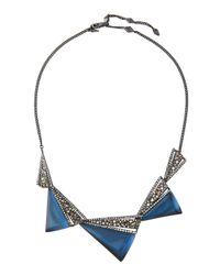 Alexis Bittar - Blue Crystal-encrusted Graduated Origami Bib Necklace - Lyst