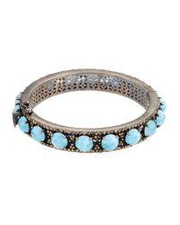Bavna | Metallic Aquamarine & Champagne Diamond Bangle Bracelet | Lyst