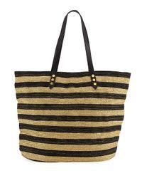 San Diego Hat Company   Black Striped Braid Tote Bag   Lyst