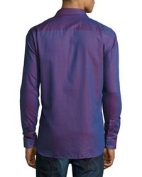Maceoo | Pink Vogue Contrast-trim Sport Shirt for Men | Lyst