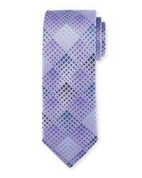 Bugatchi - Black Diamond-weave Silk Tie for Men - Lyst