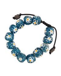 Armenta - Blue Multihued African Glass Beaded Bracelet - Lyst