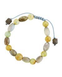 Armenta - Metallic Aquamarine & Labradorite Beaded Bracelet - Lyst