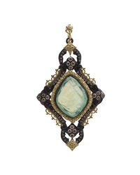 Armenta - Multicolor Old World Large Cross Doublet Pendant Enhancer W/ Mixed Diamonds - Lyst