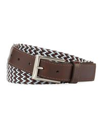 Lejon - Brown Braided Italian Leather And Cotton Belt for Men - Lyst