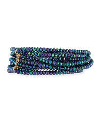 Panacea - Blue Disco Crystal Stretch Bracelet Set - Lyst