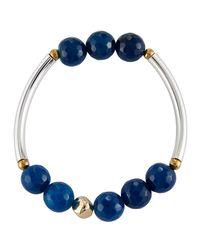 Nakamol - Blue Quartz Beaded Stretch Bracelet - Lyst