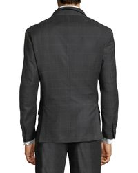 Brunello Cucinelli Gray One-and-a-half Breasted Plaid Two-piece Suit for men